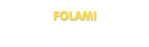 Der Vorname Folami