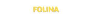 Der Vorname Folina