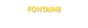 Der Vorname Fontaine