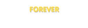 Der Vorname Forever
