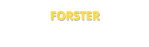Der Vorname Forster