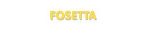 Der Vorname Fosetta