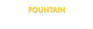 Der Vorname Fountain