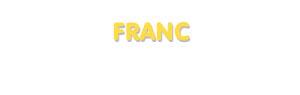 Der Vorname Franc