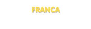 Der Vorname Franca