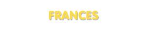 Der Vorname Frances