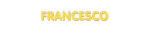 Der Vorname Francesco
