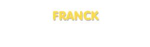 Der Vorname Franck