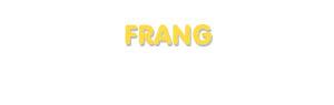 Der Vorname Frang