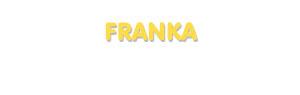 Der Vorname Franka