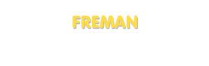 Der Vorname Freman