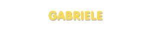 Der Vorname Gabriele