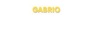 Der Vorname Gabrio