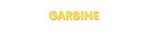 Der Vorname Garbine