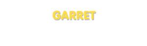 Der Vorname Garret