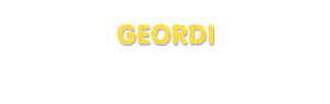 Der Vorname Geordi