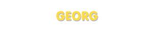 Der Vorname Georg
