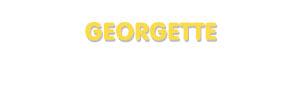 Der Vorname Georgette