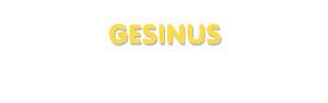 Der Vorname Gesinus