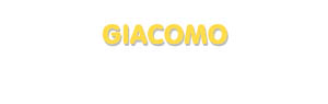 Der Vorname Giacomo