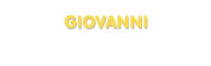 Der Vorname Giovanni