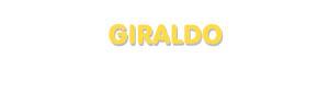 Der Vorname Giraldo