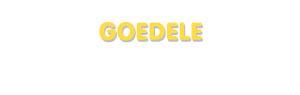 Der Vorname Goedele