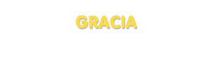 Der Vorname Gracia