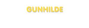 Der Vorname Gunhilde