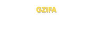 Der Vorname Gzifa