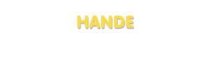 Der Vorname Hande