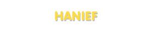 Der Vorname Hanief