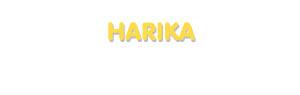 Der Vorname Harika