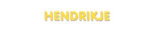 Der Vorname Hendrikje