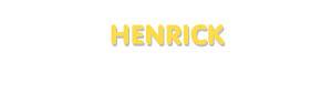 Der Vorname Henrick