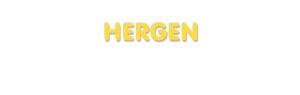 Der Vorname Hergen