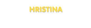 Der Vorname Hristina