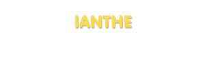Der Vorname Ianthe