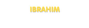 Der Vorname Ibrahim