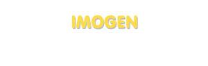 Der Vorname Imogen