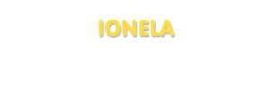 Der Vorname Ionela