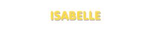 Der Vorname Isabelle