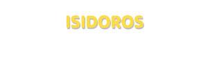 Der Vorname Isidoros