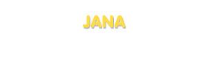 Der Vorname Jana
