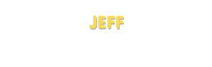Der Vorname Jeff