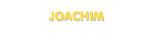 Der Vorname Joachim