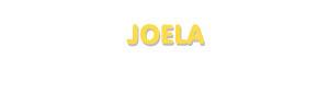 Der Vorname Joela