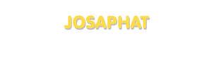 Der Vorname Josaphat