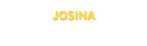 Der Vorname Josina