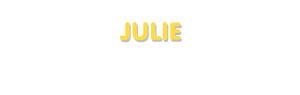 Der Vorname Julie